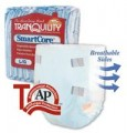 "Tranquility smartcore disposable briefs x-large beige 56"" - 64"""