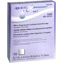 AQUACEL Ag Hydrofiber Wound Dressings - 4in x 4.7in